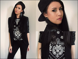 Loraine Kelly B. - Style Pit Cap, H&M Blazer, Bershka Cropped T Shirt, H&M Hight Waisted Jegging - Cool Oriental