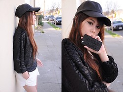 Cindy Teng - Anyshape's Customized Phone Case, Frontrowshop Textured Sweatshirt, Widow Snake Print Cap - Croc out