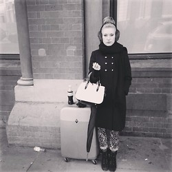 Alxndra Cook - Sandro Earmuffs, Miu Coat, Miu Bag, The Kooples Jeans - Take me back to paris?