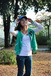 Aysegul G. - H&M Hat, H&M Jeans - Blue hat