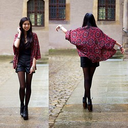 Thuy - Asos Kimono, Choies Leather Shorts - Dancing in the rain