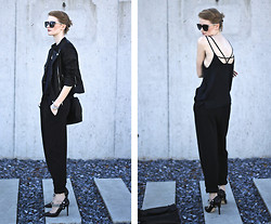 Jade Eve - Mango Sunglasses, Zara Top, Vintage Trousers, Zara Shoes - Delicate loose fit