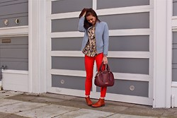 Adrienne KL - Gap Pant, J.Crew Jacket - SPRING COLORS