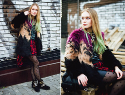 Lena Ushakova - Diesel Fur Coat, Zara Leather Skirt, Kurt Geiger Boots, Zara Shirt - Fur fur couture :*