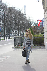 Cara McLeay - Anine Bing Shirt, Sass And Bide Jeans - Paris