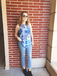 Alyson N - Old Navy Jeans, Vince Camuto Booties, Bcbg Sunglasses - I Got the Blues