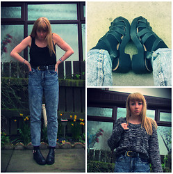 Catt A - H&M Vest, H&M Belt, Ark Jeans, Fashion Thirsty Caged Sandals, H&M Jumper - -mardy bum