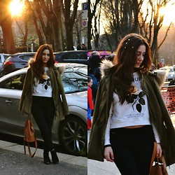 Roberta De Martino - Pull & Bear Shirt, Pull & Bear Pants, Stradivarius Bag, Bershka Shoes, Pull & Bear Coat - Milan