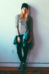 Blair B - Kut From The Kloth Sweater, H&M Harem Pant, Jeffrey Campbell Boot - XXL