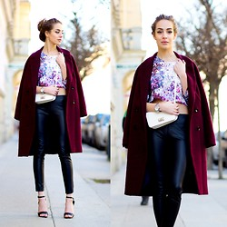 Markéta Bártová - H&M Burgundy Oversized Coat, Choies Faux Leather Pants, C&A White Crossbody - Make Your Own Kind Of Music