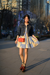 Janicee Chen - Miu Denim Jacket, Marc By Jacobs One Piece, Chanel Bag, Miu Wedge - ~~~ Birthday Outfit