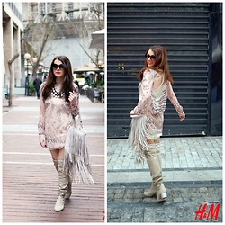 Alexia Zaradouka - H&M Top, H&M Tassel Bag, H&M Over The Knee Boots, H&M Sunnies - Love at First sight