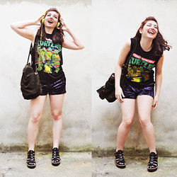 Sybille Green - Topshop Shorts - Tortues Ninja