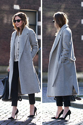 Christine R. - Cos Coat, Turnover Jacket, Olive Boyfriend Jeans - Turnover