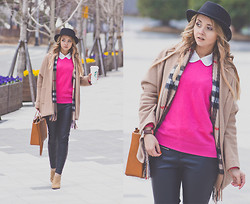 Olga Choi - Wool Overs Cashmere Sweater, Choies Coat, Daniel Wellington Watches - Out and about