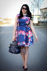 Elly E. - Msgm Dress, Miu Sunnies, Sergio Rossi Shoes, Miu Bag - The perfect princess dress