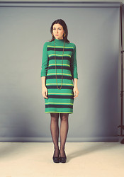 Emilie Martin - Inpasttimes 1970s Kelly Green Knit Dress - Good Vibes