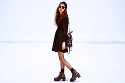 Vu Thien - Wholesale7 Dress, Wholesale7 Boots, Choies Sunglasses, Unif Cap - I BLAME MYSELF