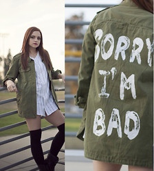 Michelle DeFraites - Forever 21 Jacket, Ragged Priest Jersey, Journeys Boots - Sorry I'm Bad
