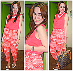 Lowella rinna B. - H&M Top, Local Store In Manila Pants - Summer color