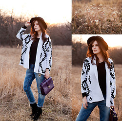 Viktoriya Sener - Zara Fedora Hat, Yesfor Cardigan, Banggood Bag - SUNSET IN THE DESERT
