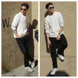 Brandon Beltran - Ray Ban Sunglasses, H&M Sweater, Levi's® Jeans, Converse Shoes - We Know