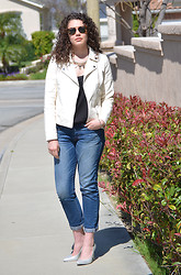 Katie G - Gap Boyfriend Jeans, H&M Heels, Forever 21 Jacket - CollegeFashionista March Madness: Round One