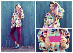 ♡Anita Kurkach♡ - Romwe Jacket, Anyshape's Case For Iphone, Romwe Leggins, Asos Shoes - Candy Shop.
