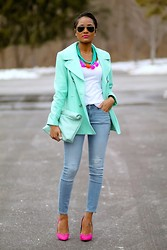 Ashleigh Hutchinson - Old Navy Jeans - Pink + Mint