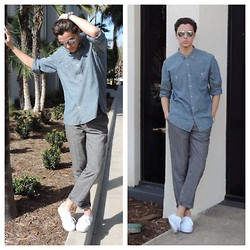 Brandon Beltran - J. Crew Button Down, H&M Pants, Vans Shoes, Michael Kors Watch - Valentines Day