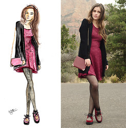Shelly Stuckman - Poof Apparel Lace, Charlotte Russe Purse, Creepers - Red Rocks