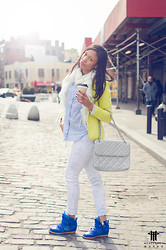 Brittney Owens Cortney Walker - Chanel Bag, American Apparel Jeans, H&M Button Down, Isabel Marants Wedge Sneakers - Is spring here yet??