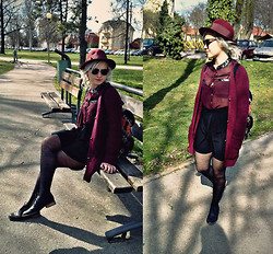 Veronika Pavlíková - Primark Backpack, Vintage Hat - It's Spring!