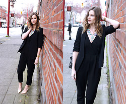 Alison Hutchinson - Zara Blazer, Bling & Trinkets Necklace, French Connection Uk Jumpsuit, Jimmy Choo Heels - VFW Day 2