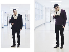 Zackie C. - Kenneth Cole Sweater, Etsy Scarf, H&M Jacket - My Mind Palace