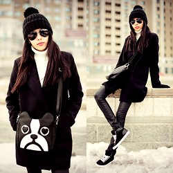 Aibina Yeshkeyeva - Mart Of China Dog, Zara Hat, Stradivarius Coat - CASUAL LOOK