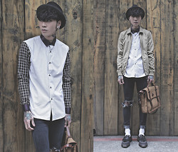 IVAN Chang - Tastemaker 達新美 Plaid Shirt, Mcving Bag, Dr. Martens Shoes - 210314 TODAY STYLE