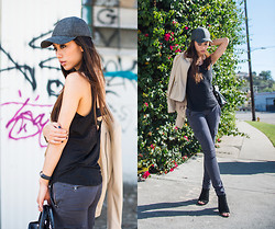 Jenny Ong - Armani Exchange Leather Jacket, Armani Exchange Skinny Utility Chino - Utility skinny