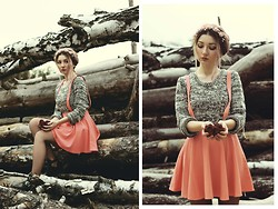♡Anita Kurkach♡ - Persun Sweater, Vateno Skirt, Banggood Shoes - Give me love.