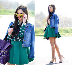 Alba . - Choies Shirt, Choies Skirt, Zerouv Suglasses - ...Green Spring...