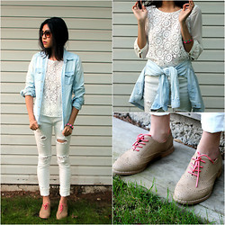 Pamela Honor - Gap Shoes, Bdg Jeans, Levi's® Chambrey, Zara Blouse - Spring is White