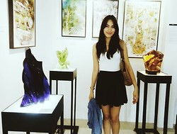 Aice Villareal - Topshop Skater Skirt, H&M Tanktop, Parfois Trapeze Bag, Forever 21 Necklace, Giorgio Armani Polo - Tags