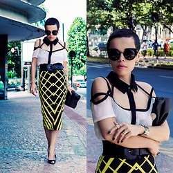 Priscila Diniz - Savina Top, Asos Pencil Skirt, Black Lunch Bag - Goddess of love please take me to your leader!