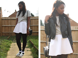 Mwandu S - H&M Jacket, American Apparel Skirt, Ebay Sandals - You're running in my head and i can't keep up