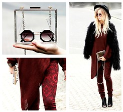 Nanda Polly S. - Choies Bag, Gypsy 05 Pants, Ash Boots -  burgundy rockstar ✌