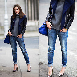 Anouska Proetta Brandon - Guess? Jacket, Choies Jumper, Anine Bing Jeans, Marciano Heels, Milly By Michelle Bag - Dawson.