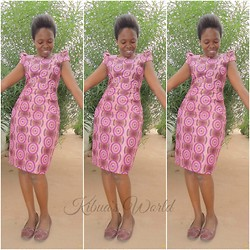 Violet K - Kibua V Kitenge Dress - Happy like Pharrell