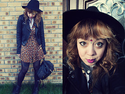 Sarah Miller - Topshop Dress, Topshop Hat, Miss Selfridge Backpack - We met one day when I thought I was an alien