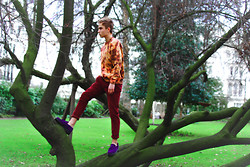 Daniil Shamatrin - Follow My Eyes Sweater, Follow My Eyes Velvet Trousers, Dr. Martens Shoes - G A R D E N