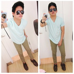 Jobert Yayain - Ray Ban, Penshoppe Mint Tee, Maco Pants, Milanos Shoes - M I N T .ph